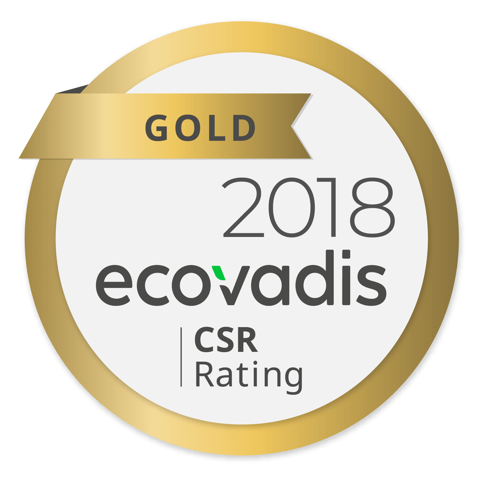 20181115 Ricoh awarded highest gold rating in EcoVadis global supplier survey for fourth year running